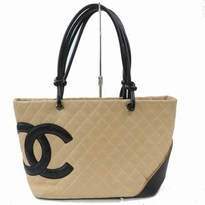 Chanel Cambon Ligne Quilted CC Shopper Tote